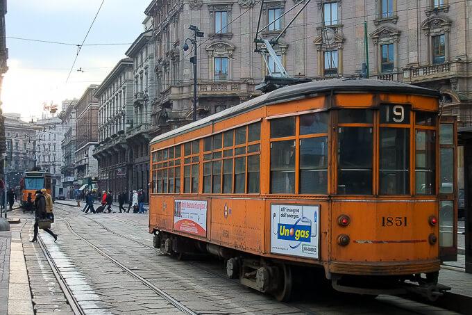 ミラノ・スナップ(ミラノの路面電車)